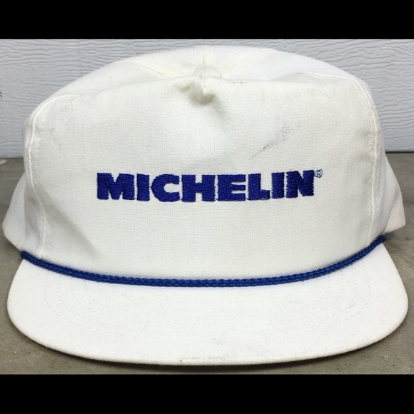 Vintage 80 s Michelin Tires Pit Crew Style Hat. M 5acd34caa825a6714378ac5e 7f180ff31b87
